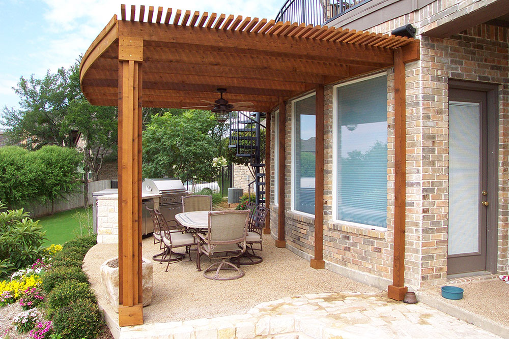 803 Pergola And Built In Rock Bbq