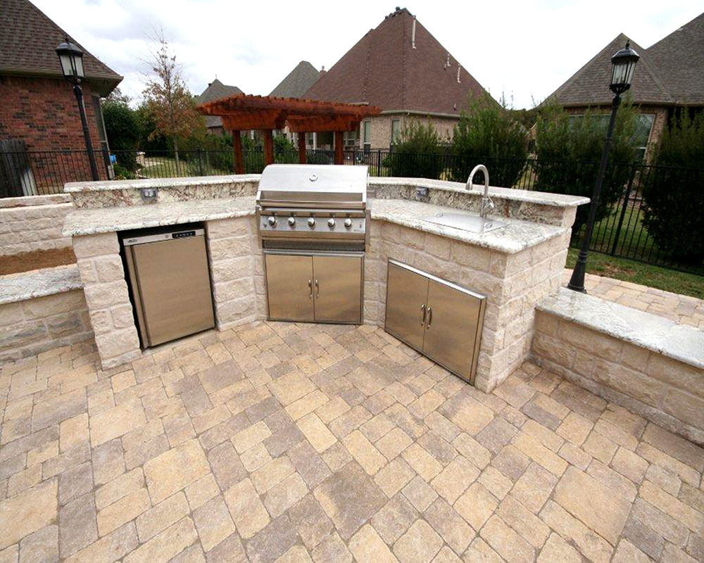Ft. Worth Outdoor kitchen photos, Keller outdoor fireplaces, on Patio Sink Station id=87334