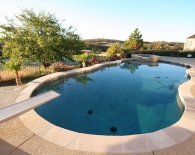 Freeform Pool; Flagstone Coping, Salt Finish Deck, Interfab Diving Board, Wed Edge Plaster, Zodiac & Polaris Equipment