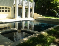 Traditional Pool and Spa; Leuders, Coping, Oreq Fountains, Wet Edge Plaster, Zodiac & Polaris Equipment